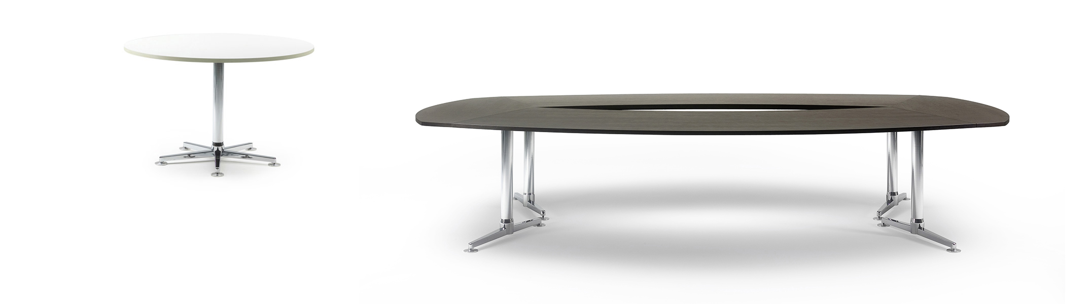 Round and rectangular conference table Casus