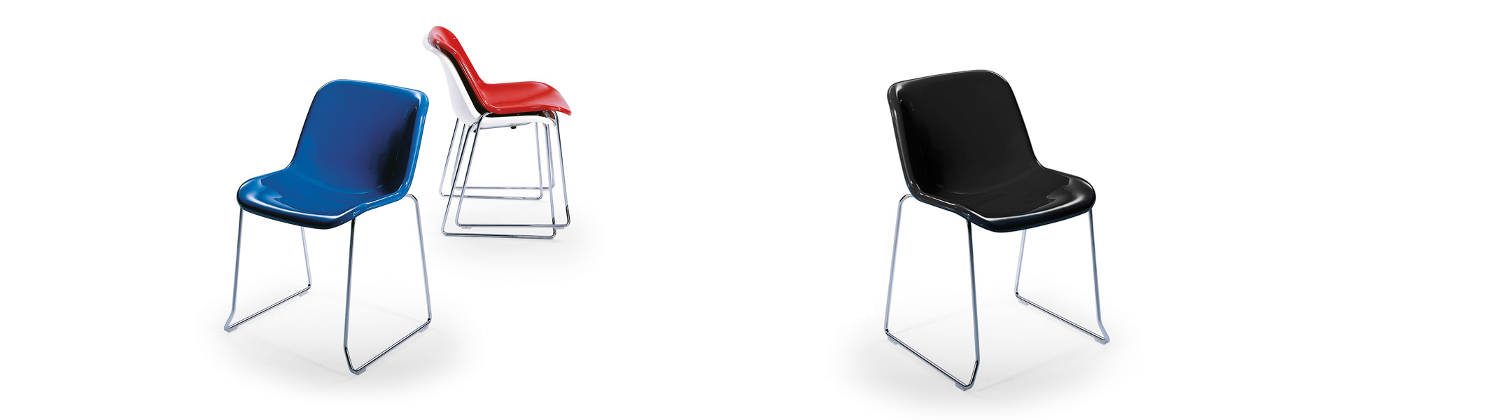 Stackable plastic chair Spirit