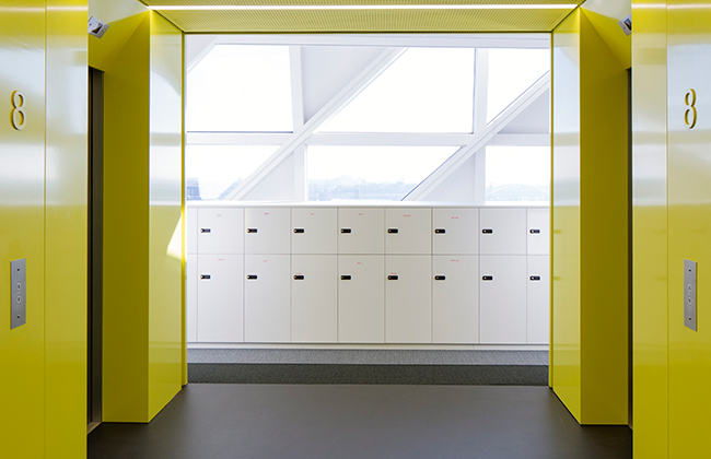 Besproke furniture such as these custom lockers