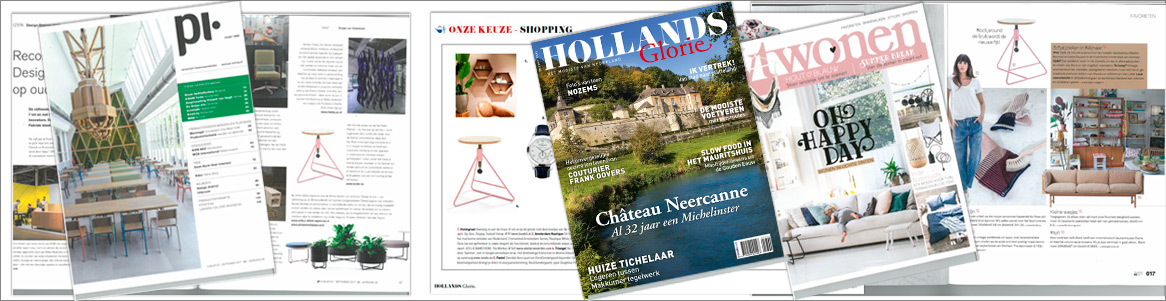 Spinner in de magazines VTwonen, PI magazine en Hollands Glorie