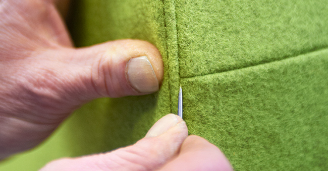 Craftsmanship of our upholsterers