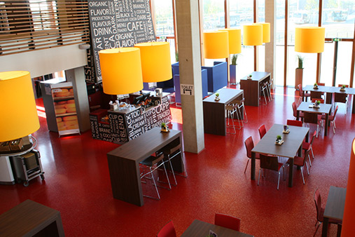 Interior design of the company restaurant of Waterschap Scheldestromen, Goes