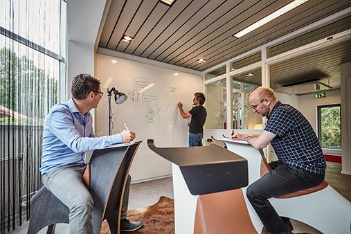 inrichting kantoor de creatieve afdeling